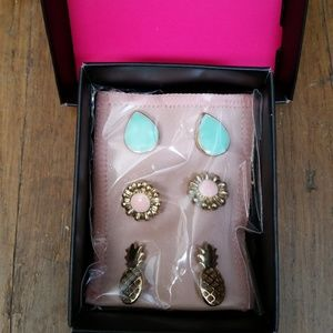 Party Stud Earring Trio